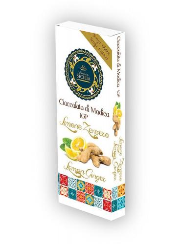 6 pz Cioccolato di Modica IGP gusto limone e zenzero
