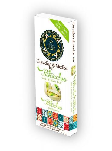 6 pz Cioccolato di Modica IGP con pistacchio verde di Bronte DOP