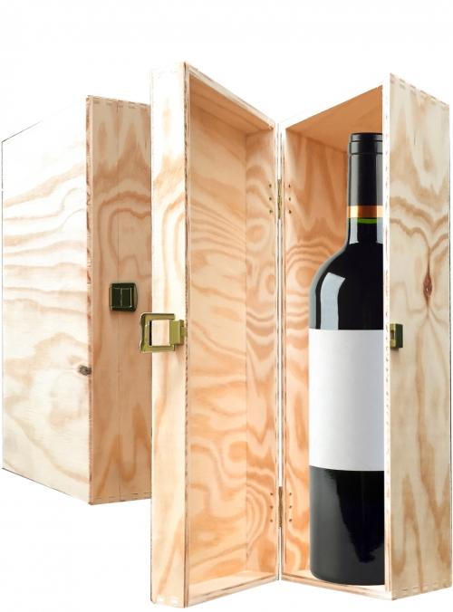 Wooden box for 1 bottle