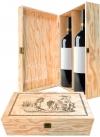 Cassetta in legno per 2 bottiglie di vino