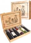 Cassetta in legno per 6 bottiglie di vino
