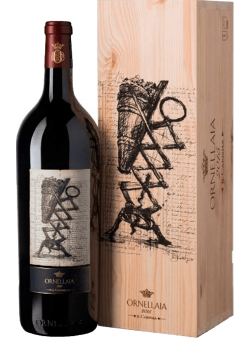 Ornellaia magnum with wooden box